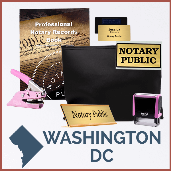 District Of Columbia Pink Deluxe Notary Kit
