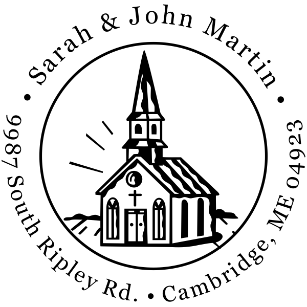 Church Building Address Stamp