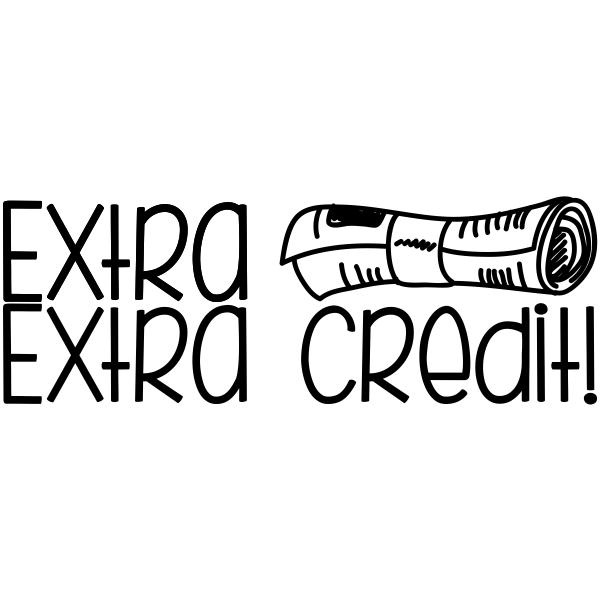 Extra Credit Teacher Stamp