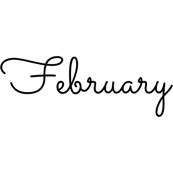 February Journal Stamp