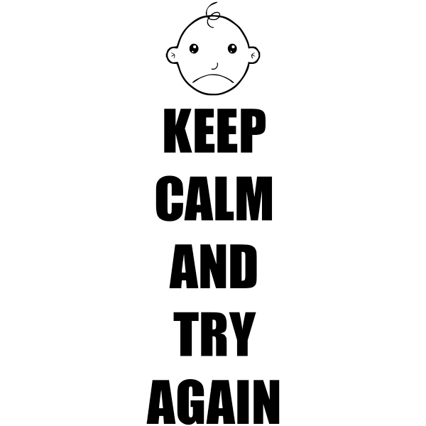 Feedback - Keep Calm And Try Again Rubber Teacher Stamp