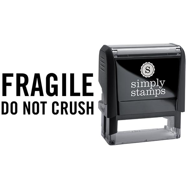 Fragile Do Not Crush Business Stamp