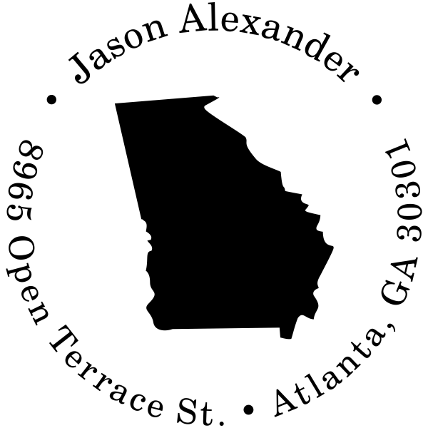 Georgia Round Address Stamp