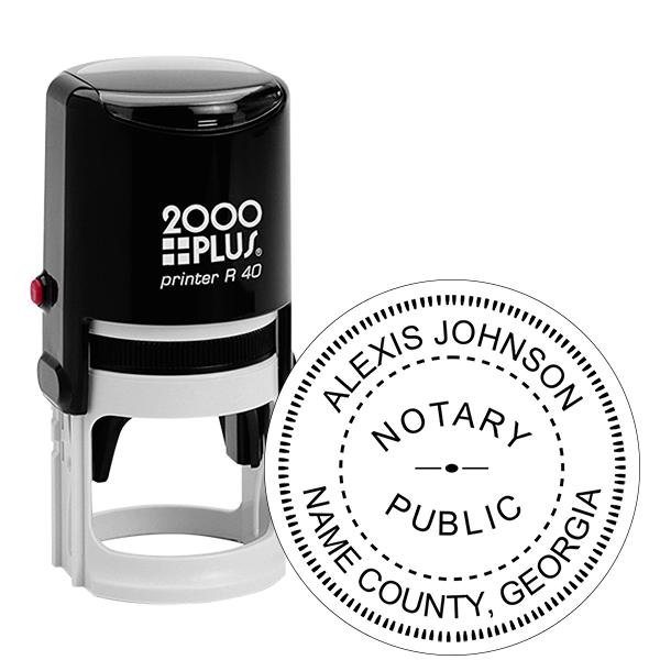 Georgia Notary Public Round Stamp