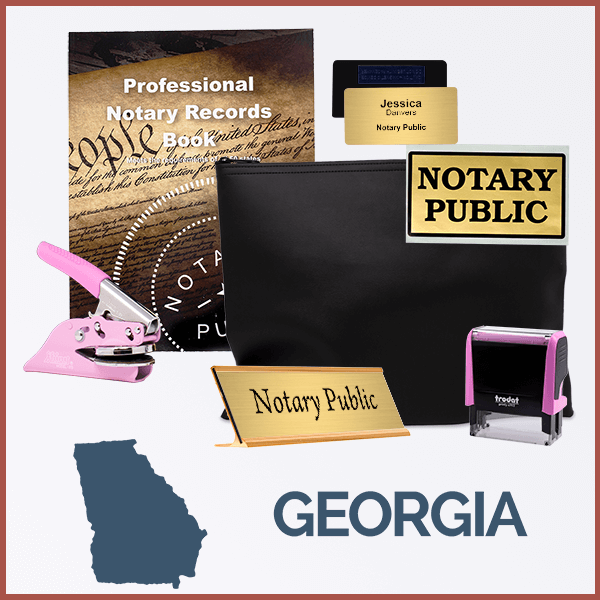 Georgia Pink Deluxe Notary Kit