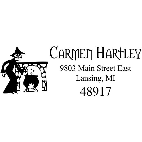 Witches Brew Halloween Return Address Stamp