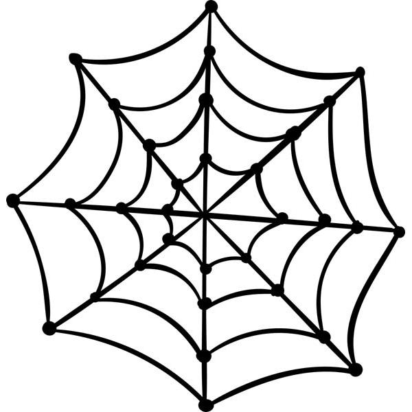 "Spooky Spider Web Halloween Craft Stamp   2"" x 2"""