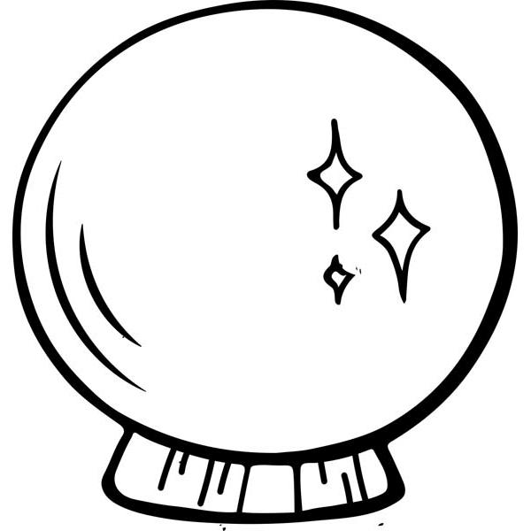 "Crystal Ball Halloween Craft Stamp   2"" x 2"""
