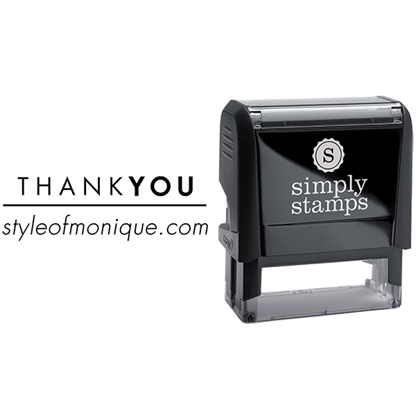 Thank You with Custom Text Business Stamp