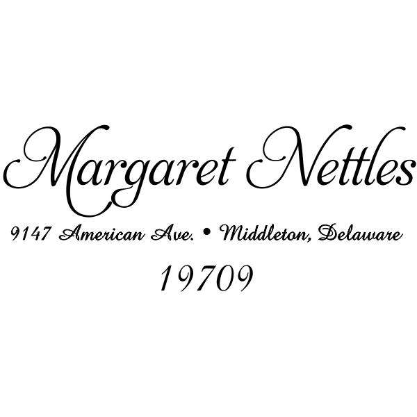 Nettles Handwritten Address Stamp