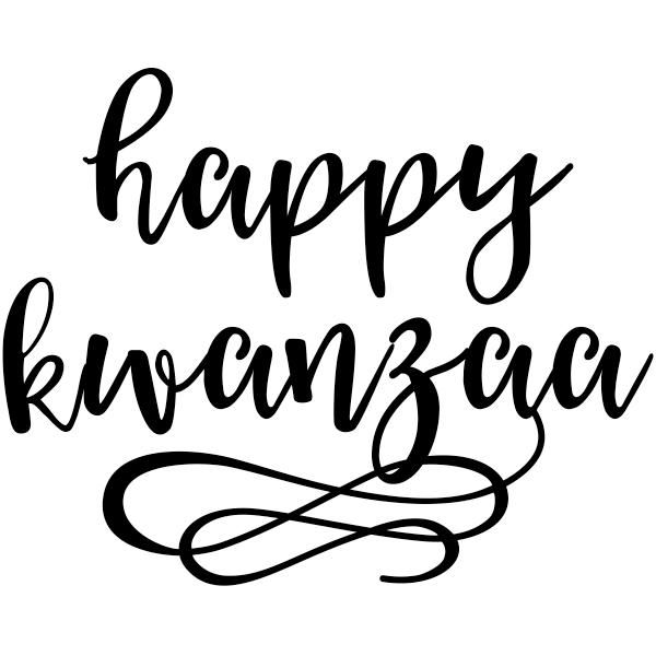 "Happy Kwanzaa Craft Stamp     2"" x 2"""