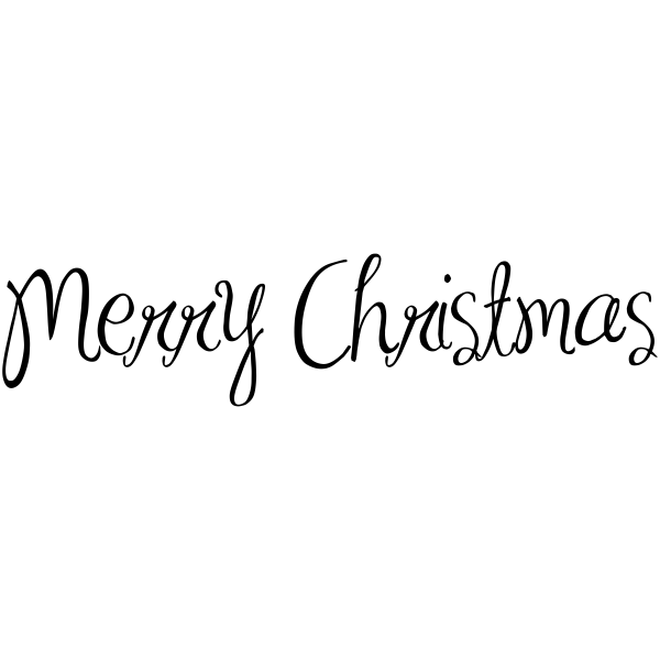 Merry Christmas Craft Rubber Stamp