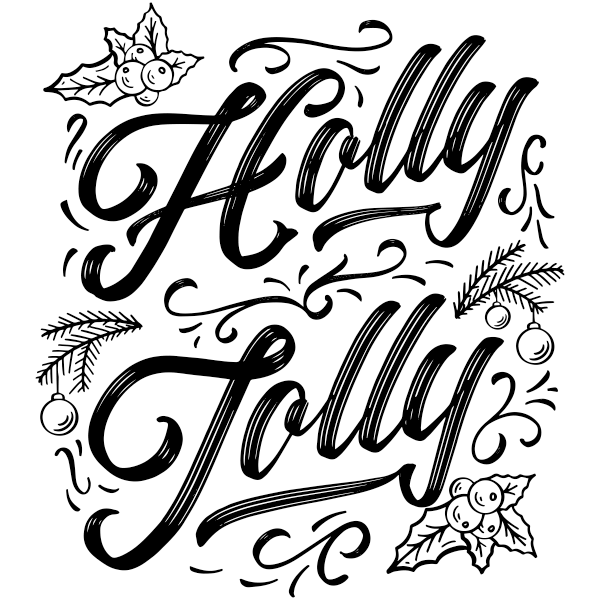 """Holly Jolly Craft Stamp 