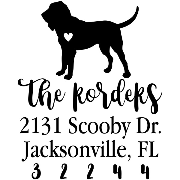Hound Dog Love Address Stamp