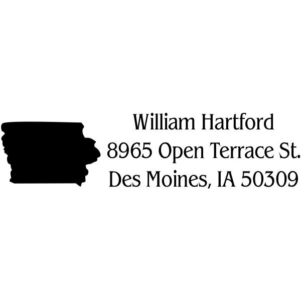 Iowa Return Address Stamp