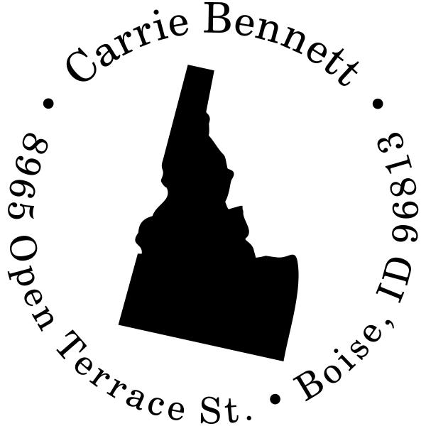 Idaho Round Address Stamp