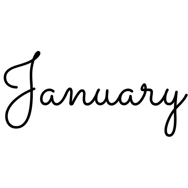 January Journal Stamp