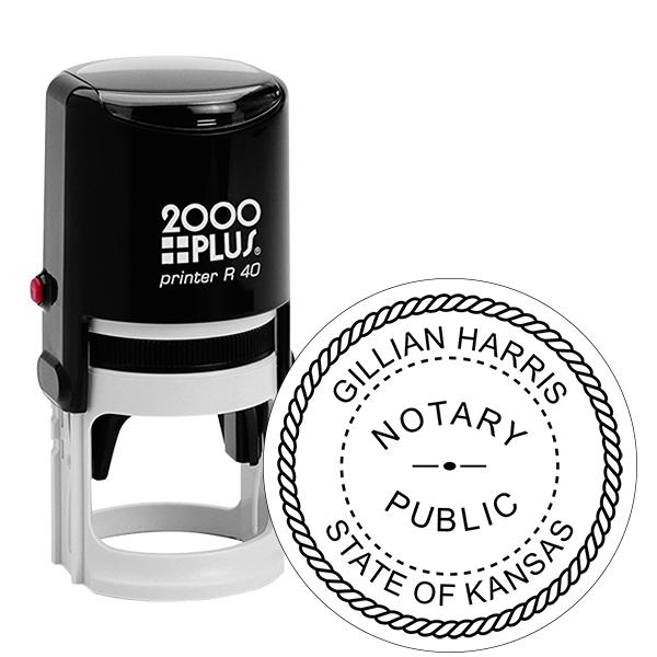 Kansas Notary Public Round Stamp