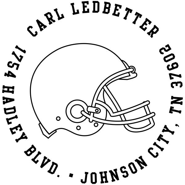 Football Helmet Return Address Stamp