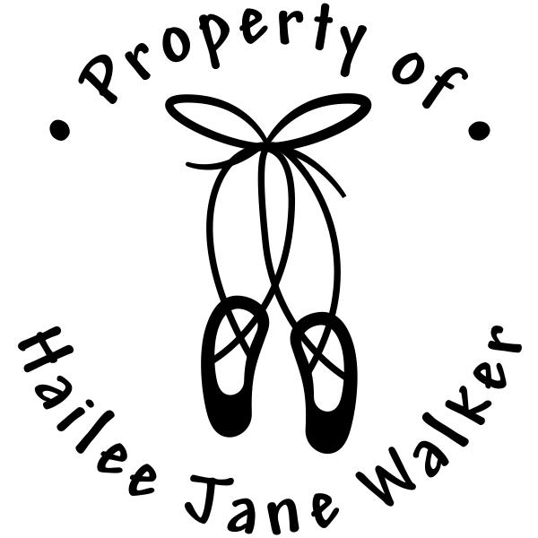 Property of Ballet Slipper Stamp