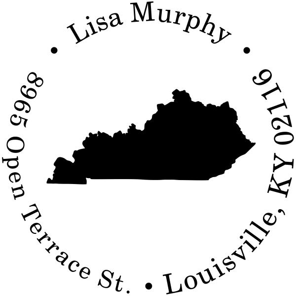Kentucky Round Address Stamp
