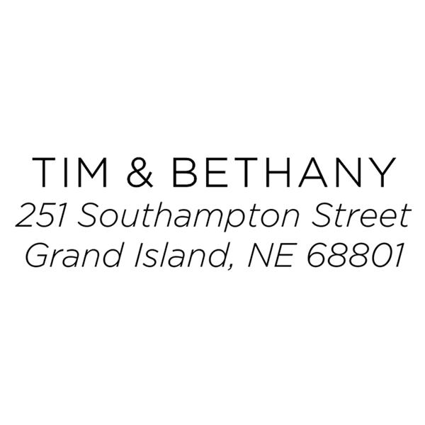 Light Sans Serif Address Stamp