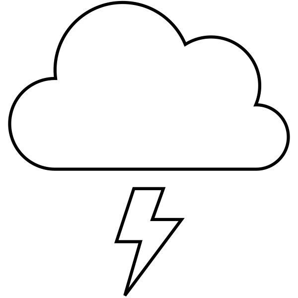Lightning Weather Journal Stamp