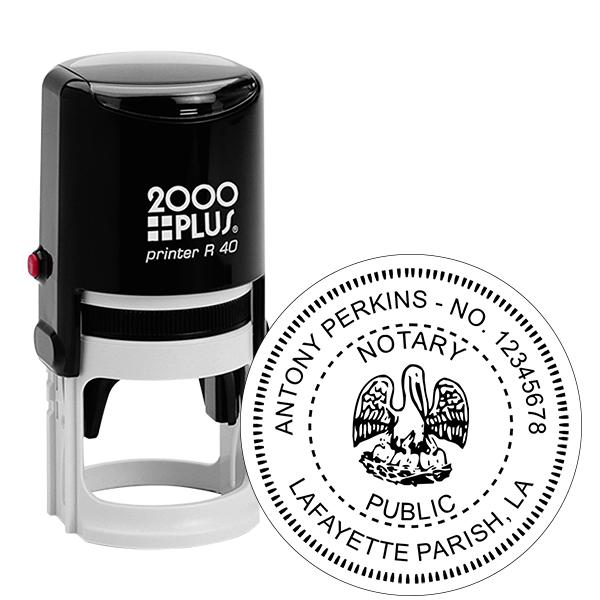 Louisiana Notary Round Stamp