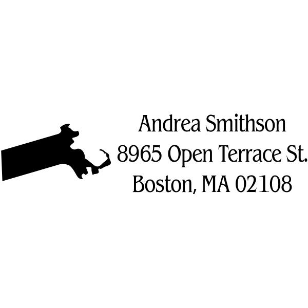 Massachusetts Return Address Stamp