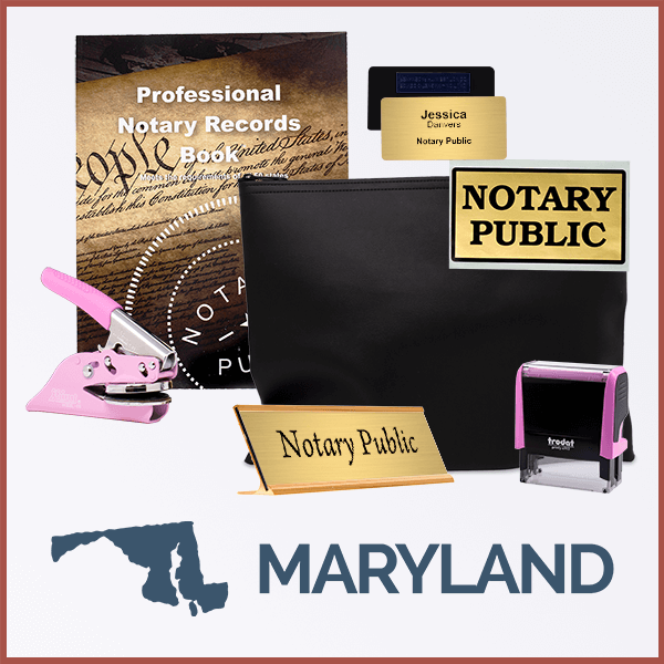 Maryland Pink Deluxe Notary Kit