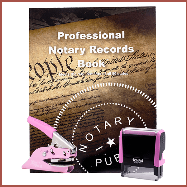 Massachusetts Pink Value Notary Kit