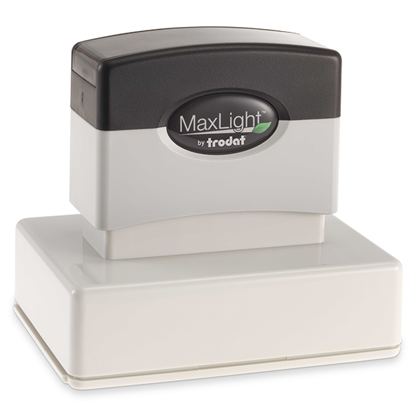 MaxLight Custom Pre-Inked Stamp - MAX-225Z -  Black Ink