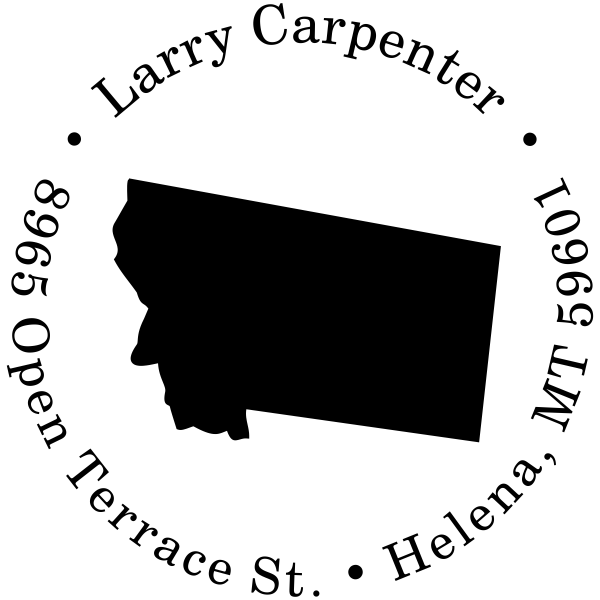 Montana Round Address Stamp