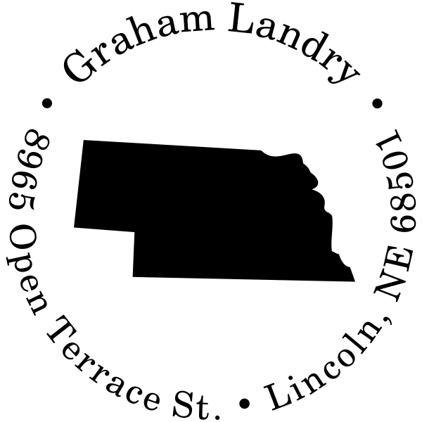 Nebraska Round Address Stamp