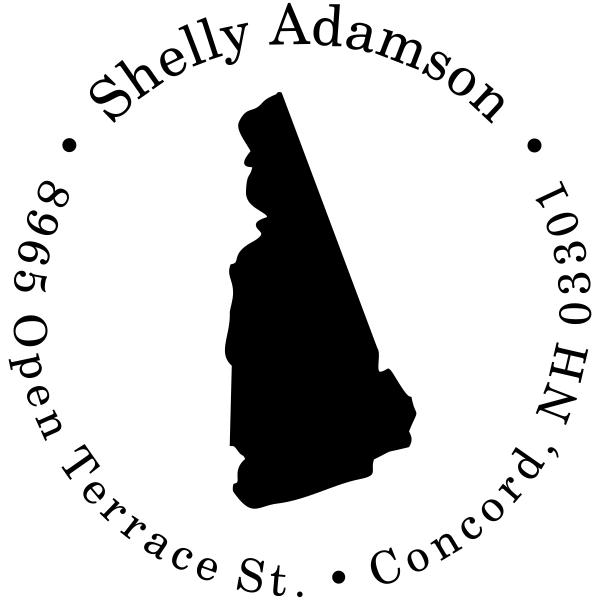 New Hampshire Round Address Stamp