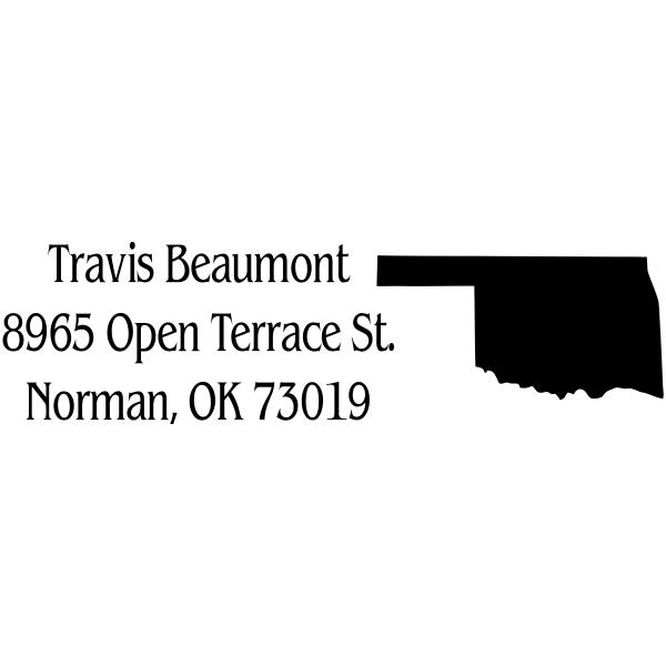 Oklahoma Return Address Stamp