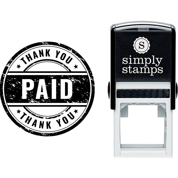 Thank You Paid with Distress Business Stamp