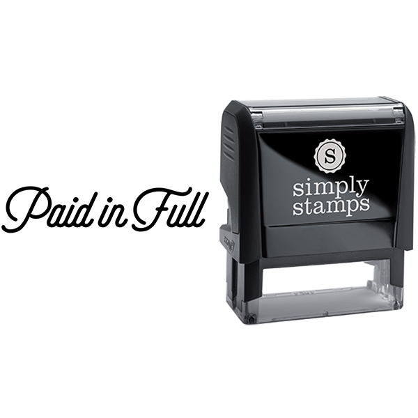 Paid in Full with Script Text Business Stamp