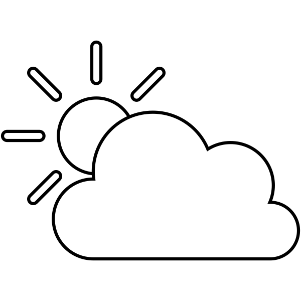 Partly Sunny Weather Journal Stamp