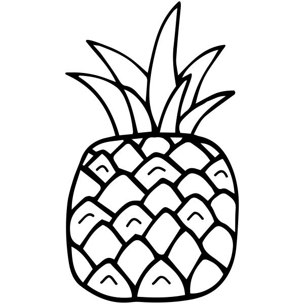 Square Pineapple Craft Stamp