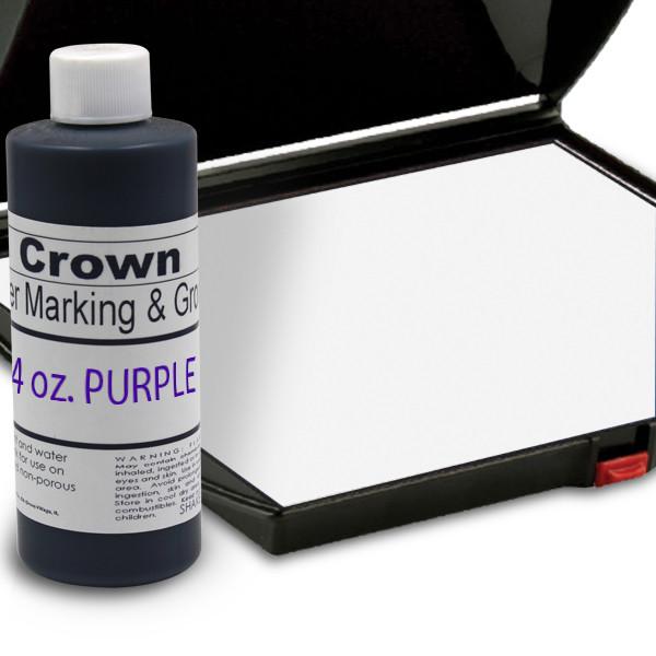 Purple 4oz SuperMarking Ink w/ Large Pad