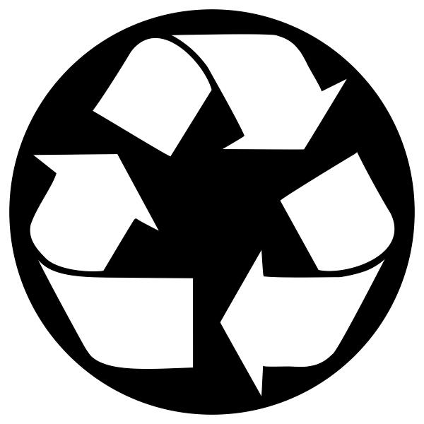 Recycle Symbol Circle Stock Stamp