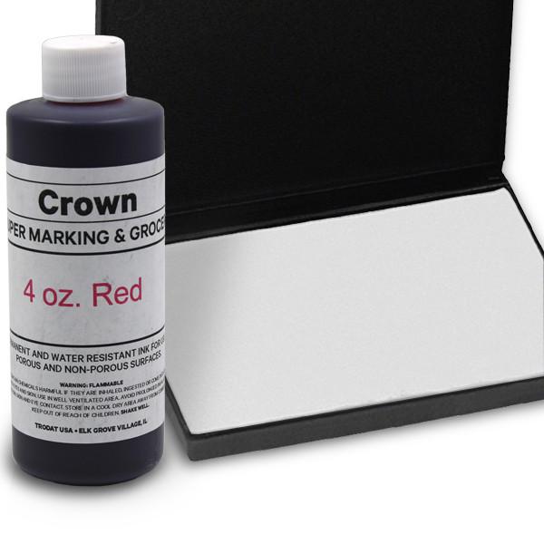 Red 4oz SuperMarking Ink w/ Medium Pad