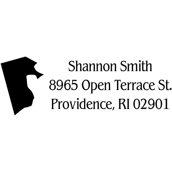 Rhode Island Return Address Stamp