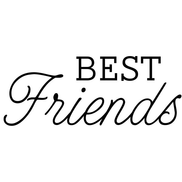 Best Friends Craft Stamp