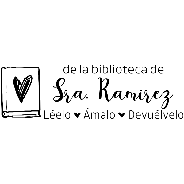 Spanish Teacher Library Stamp