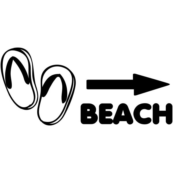 Beach Flip Flops Craft Stamp