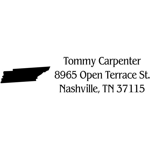 Tennessee Return Address Stamp