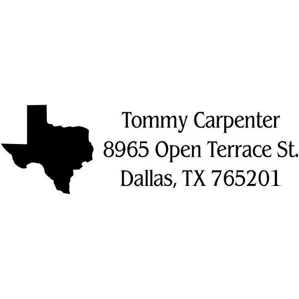 Texas Return Address Stamp
