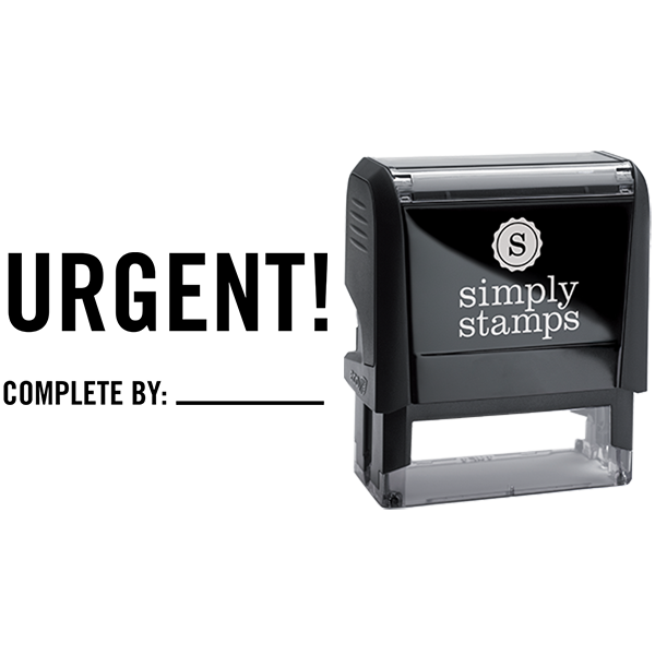 Urgent Complete By Business Stamp